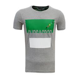 - T-Shirt 0 Yaka Bursa Yıldız Gri