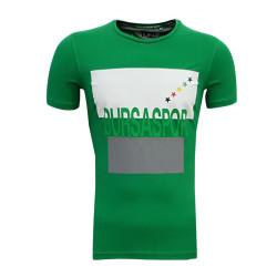 - T-Shirt 0 Yaka Bursa Yıldız Yeşil