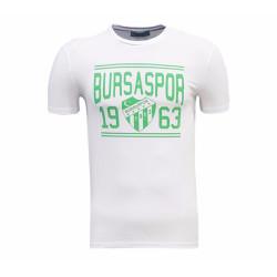 - T-Shirt 0 Yaka Bursaspor 1963 Beyaz
