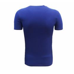 - T-Shirt 0 Yaka Lacivert Parçalı Logo (1)