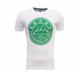 - T-Shirt 0 Yaka Logo 5 Yıldız Beyaz