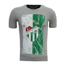 - T-Shirt 0 Yaka Logo 5 Yıldız Gri