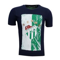 - T-Shirt 0 Yaka Logo 5 Yıldız Lacivert
