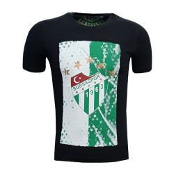 - T-Shirt 0 Yaka Logo 5 Yıldız Siyah