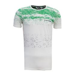 3TSHIRT90TL - T-Shirt 0 Yaka Noktalı Beyaz