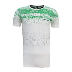 - T-Shirt 0 Yaka Noktalı Beyaz