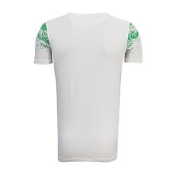 - T-Shirt 0 Yaka Noktalı Beyaz (1)