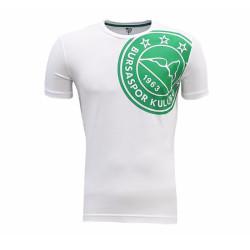 - T-Shirt 0 Yaka Omuz Logo 5 Yıldız Beyaz