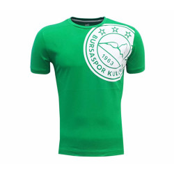 - T-Shirt 0 Yaka Omuz Logo 5 Yıldız Yeşil