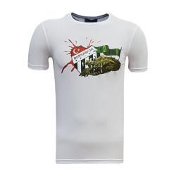 - T-Shirt 0 Yaka Timsah Logo Beyaz