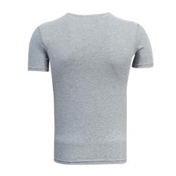 - T-Shirt 0 Yaka Timsah Logo Gri (1)
