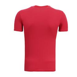 3TSHIRT90TL - T-Shirt 0 Yaka Timsah Logo Kırmızı (1)