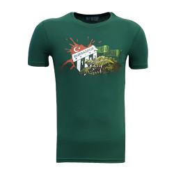 - T-Shirt 0 Yaka Timsah Logo Yeşil