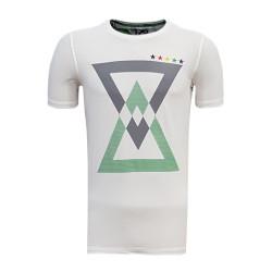 - T-Shirt 0 Yaka Üçgen 5 Yıldız Beyaz