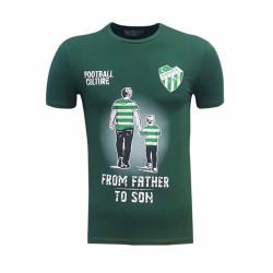 - T-Shirt 0 Yaka Yeşil Babadan Oğula