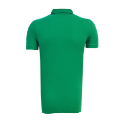 - T-Shirt Polo Yaka Çizgili Yeşil (1)