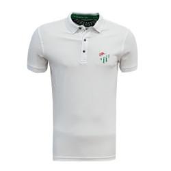 - T-Shirt Polo Yaka Logo Beyaz