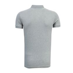 - T-Shirt Polo Yaka Logo Gri (1)