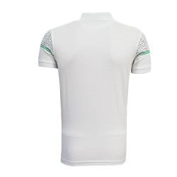 - T-Shirt Polo Yaka Noktalı Beyaz (1)