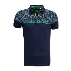 - T-Shirt Polo Yaka Noktalı Lacivert