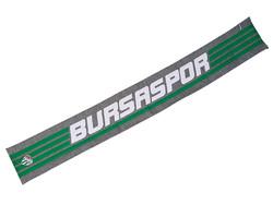 BURSASTORE - Atkı Yün Gri Yeşil Çizgili
