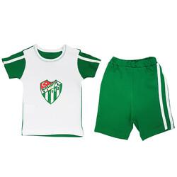 BURSASTORE - Bebek 2`Li Şortlu Logo Takım