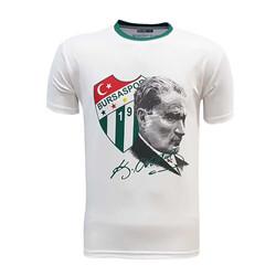 BURSASTORE - Çocuk T-Shirt 0 Yaka Atatürk Beyaz Logo