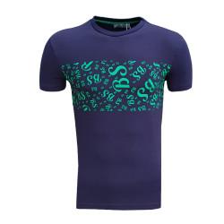 Çocuk T-Shirt 0 Yaka Bs Lacivert - Thumbnail