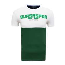 - Çocuk T-Shirt 0 Yaka Bursaspor Est Beyaz Yeşil