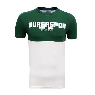 Çocuk T-Shirt 0 Yaka Bursaspor Est Yeşil Beyaz