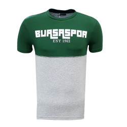 - Çocuk T-Shirt 0 Yaka Bursaspor Est Yeşil Gri