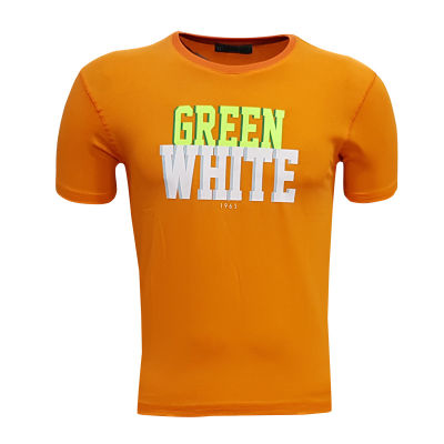 Çocuk T-Shirt 0 Yaka Green White Turuncu