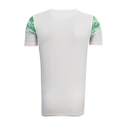 Çocuk T-Shirt 0 Yaka Noktalı Beyaz