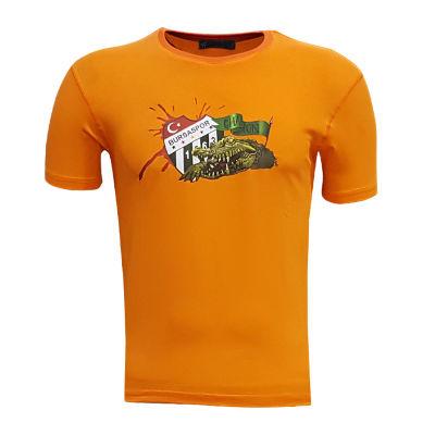 Çocuk T-Shirt 0 Yaka Timsah Logo Turuncu