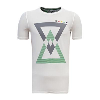 Çocuk T-Shirt 0 Yaka Üçgen 5 Yıldız Beyaz