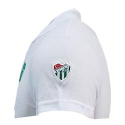 Çocuk T-Shirt Polo Yaka Bursaspor Beyaz - Thumbnail