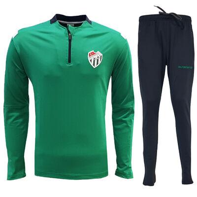 Eşofman Takım Yarım Fermuar Yeşil Logo