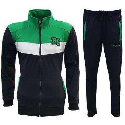 Eşofman Takım Yeşil Beyaz Siyah Bs