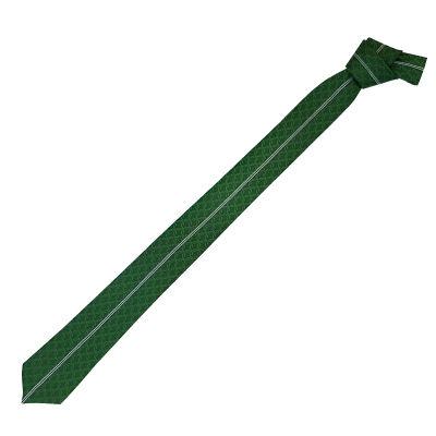 Kravat Yeşil Beyaz Çizgili