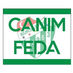 BURSASTORE - Sticker Canım Feda (11,5x9,5)
