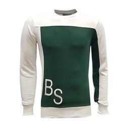 BURSASTORE - Sweat 0 Yaka Bs Beyaz Yeşil