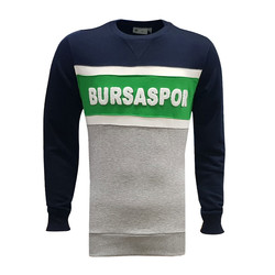 Sweat 0 Yaka Bursaspor Laci Gri Yeşil - Thumbnail