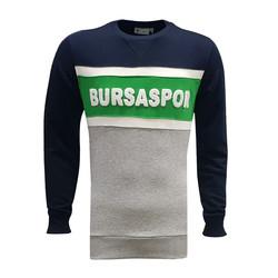 BURSASTORE - Sweat 0 Yaka Bursaspor Laci Gri Yeşil