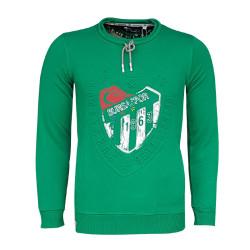 BURSASTORE - Sweat 0 Yaka Nostalji Logo Yeşil