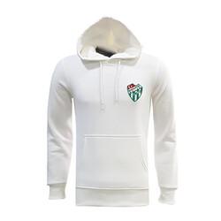 BURSASTORE - Sweat Kapşonlu Beyaz Logo