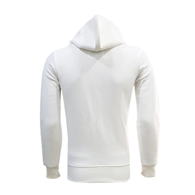 Sweat Kapşonlu Beyaz Logo