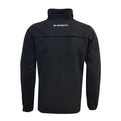 Sweat Polar Fermuarlı Siyah Logo