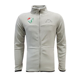 POLAR %25 - Sweat Polar Kappa Fermuarlı Gri
