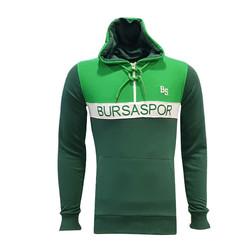 BURSASTORE - Sweat Yarım Fermuar Bs Bursaspor Yeşil
