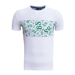 BURSASTORE - T-Shirt 0 Yaka Bs Beyaz